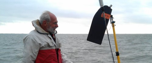Jan Alkema with the Mister Vee USD windvane